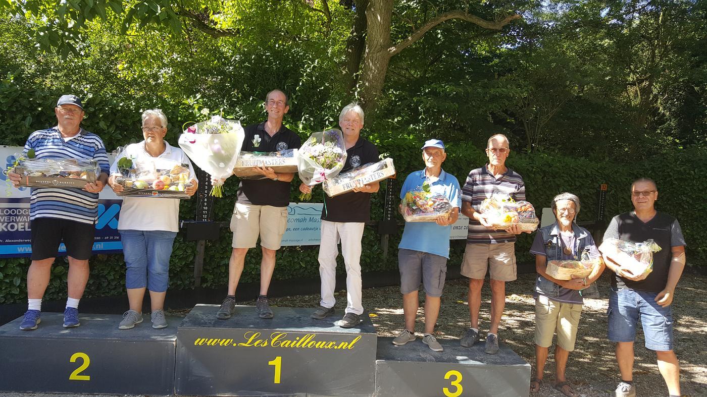 Podium 'Promotietoernooi Zeist Open.'