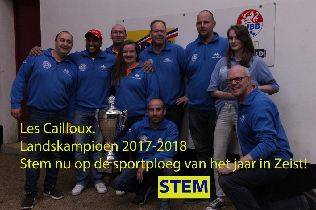 Nominatie Sportploeg van het jaar Zeist e.o.