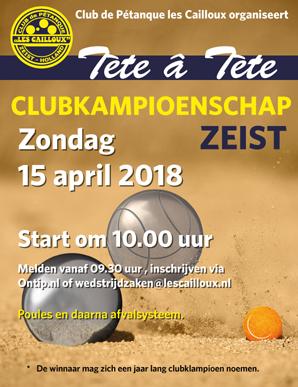 Intern kampioenschap Tête à Tête